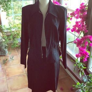 Black skirt and jacket office wear set NWT